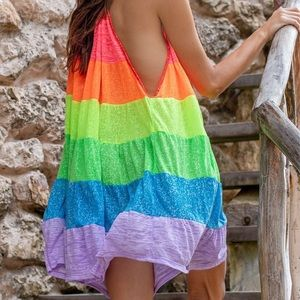 NWT Pitusa Popsicle Halter Mini Dress, Petite